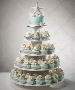 Cake Decorating Theme Kits : Seashells Ocean Theme Cupcake Tower cake decorating kit